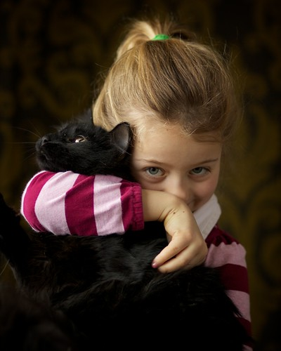 Girl & Kitten