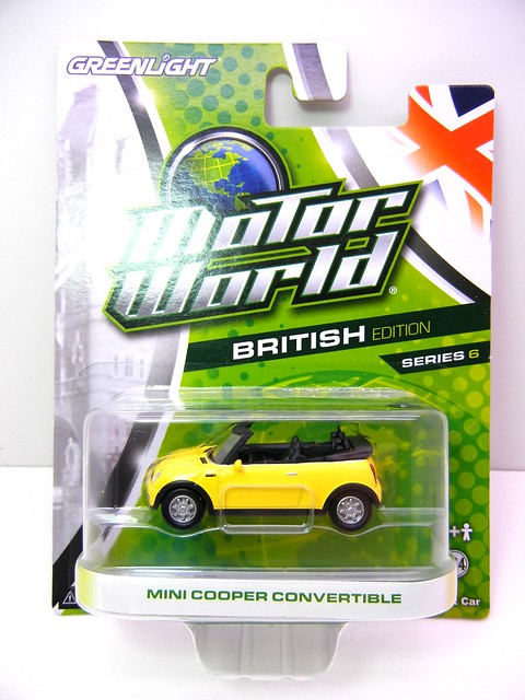 greenlight motor world mini cooper convertible yellow (1)