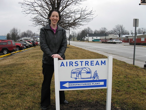 Lisa outside Airstream Inc., Jackson Center, OH