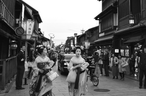 Geisha on the Street
