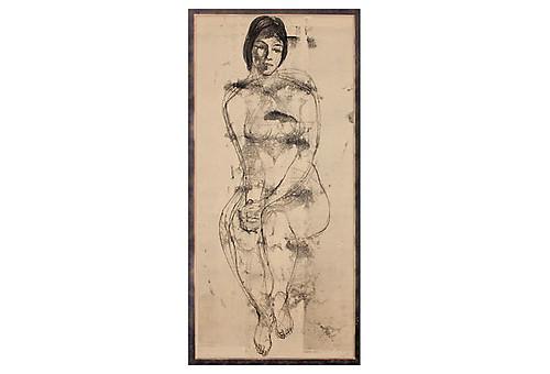 Joseph Knowles Jr charcoal lady