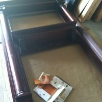 Distressed Fireplace Mantel Revamp