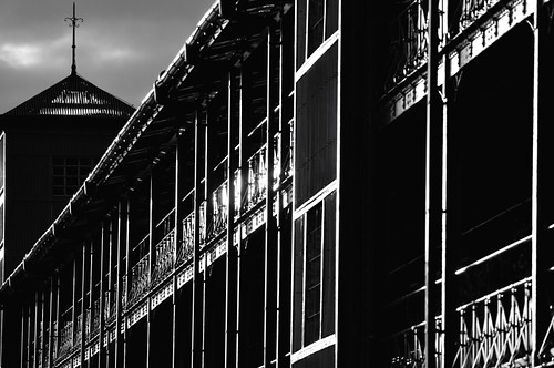 Sunlit Red Brick Warehouse by hidesax