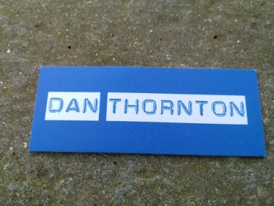 Dan Thornton business card - AKA TheWayoftheWeb.net and HotModMedia.com