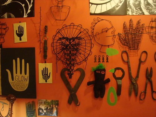 shears & monsters i've made..along with a few painted hands... by denise carbonell