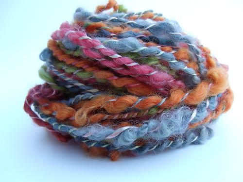 Wensleydale Lame Locks Spun & Plied with Silk