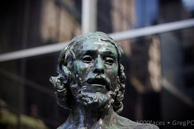 Face - statue of a bearded man