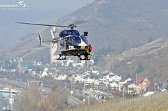 Übung Höhenrettung mit Polizeihubschrauberstaffel Lorch März 2012