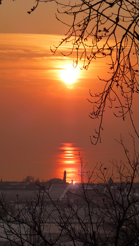 snowy feilds in the sunset 9 feb 2012