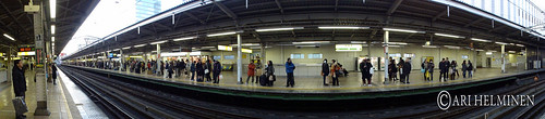 Panorama metro station tokyo