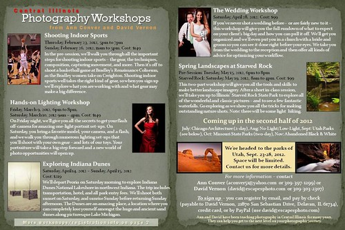 2012 Winter-Spring Workshops
