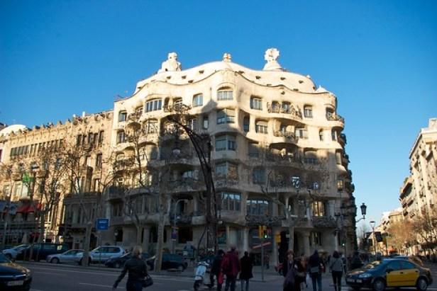 Барселона, Каталония, Испания, дом Каса Мила