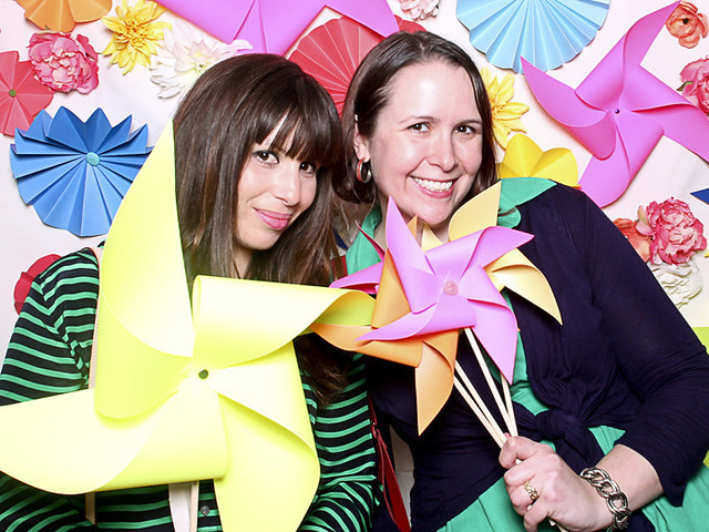 With Jackie of The Hourglass. Photo by Smilebooth.