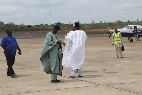 Nuhu Ribadu,Ahmadu Adamu Mu'azu (Former Governor Bauchi State), Abubakar Umar Gada (Former senator Sokoto State)  @ Asaba International Airport by Jujufilms