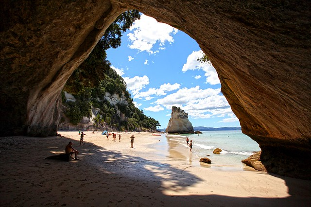 Cathedral Cove is named after the cave located there linking Mare's Leg Cove to Cathedral Cove. The area is very popular with tourists, and receives around 150,000 visitors a year. This is where some shots for Chronicles of Narnia were taken.