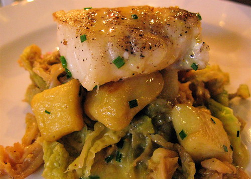 Phillips Eat Local Drink Local dinner entree, Ocean Wise Seared BC Ling Cod