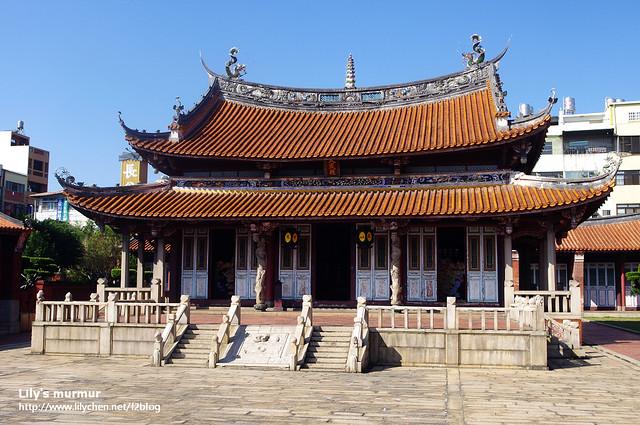 這就是彰化孔廟,跟台南的孔廟有點像。