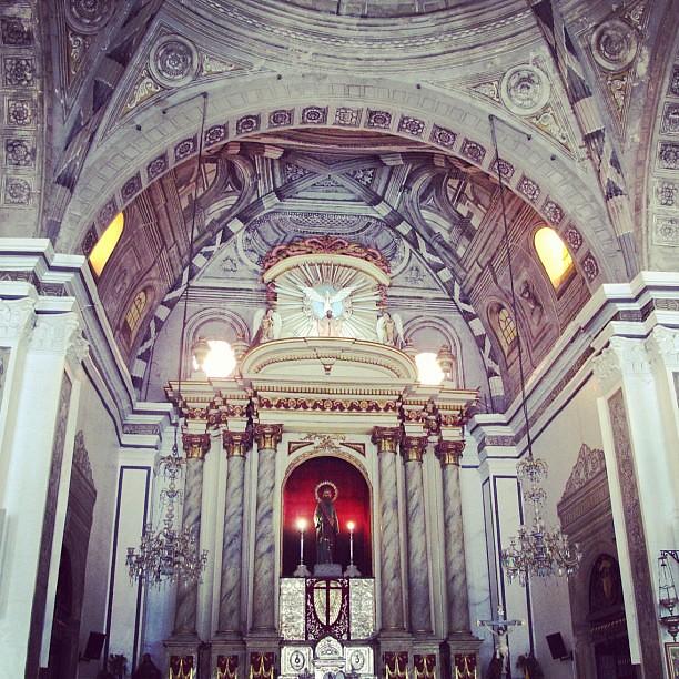 Inside the San Sebastian Church in Intramuros, Manila #visitaiglesia