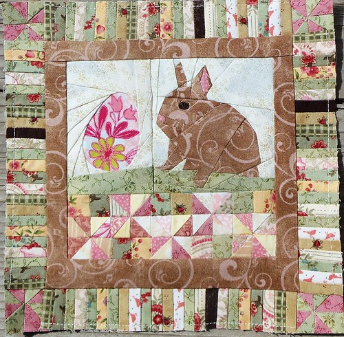 Bunny mini quilt made for side of barn in Layton Quilt Guild... by ruthiequilts