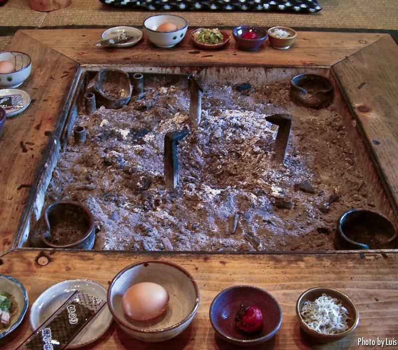Cena en un minshuku