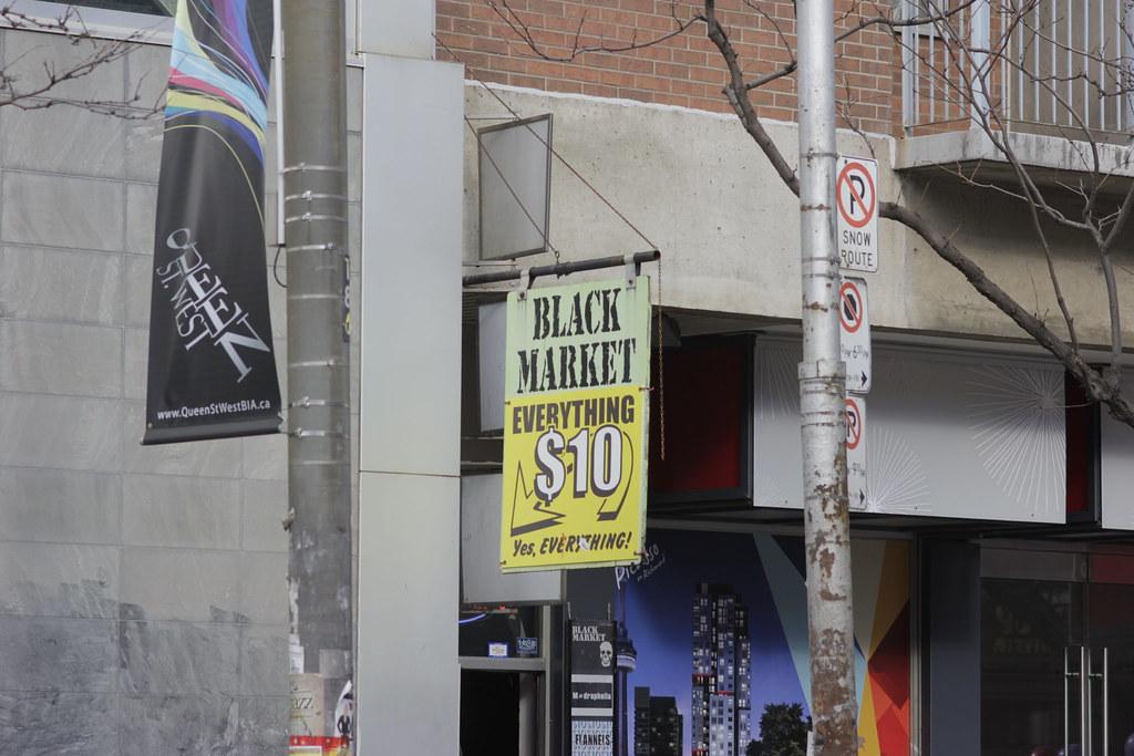 Black Market Signage