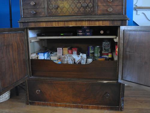 storage cabinet -- filled