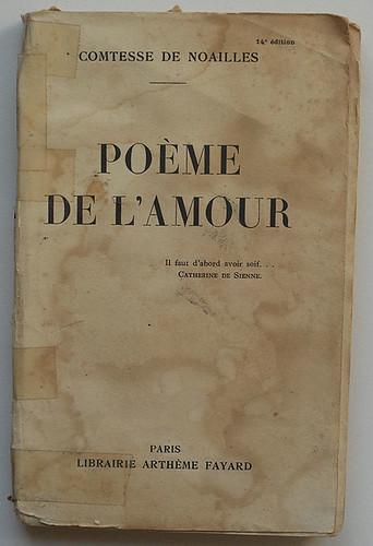 Comtesse de Noailles: Poème de l'amour