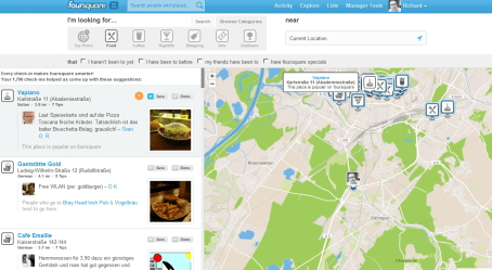 Discovering Karlsruhe on foursquare