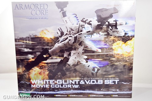 Kotobukiya White Glint & V.O.B Movie Color Version Unboxing Review (1)