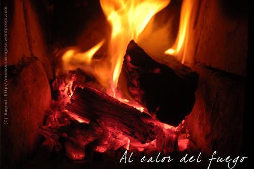 Al calor del fuego. Llamas