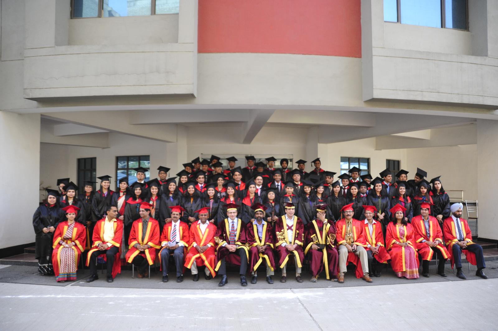 Graduating Class with the faculty and Chief Guest Deep Kalra