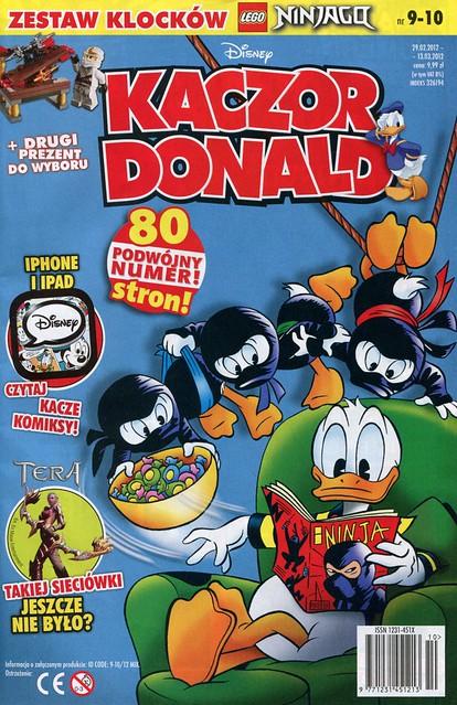 Kaczor Donald nr 9-10/2012 + 30086 White ninja with chest