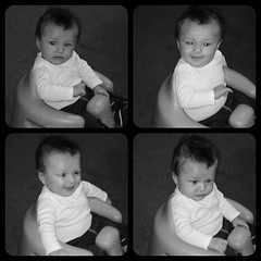 First time in the Bumbo!!! So big! 12 weeks today? Seriously...? #timeflies