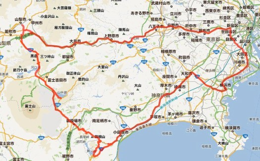 route of 2012.2.25-26