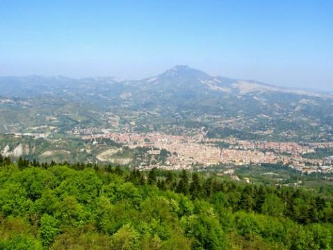 Ascoli Piceno dall'Eremo di San Marco