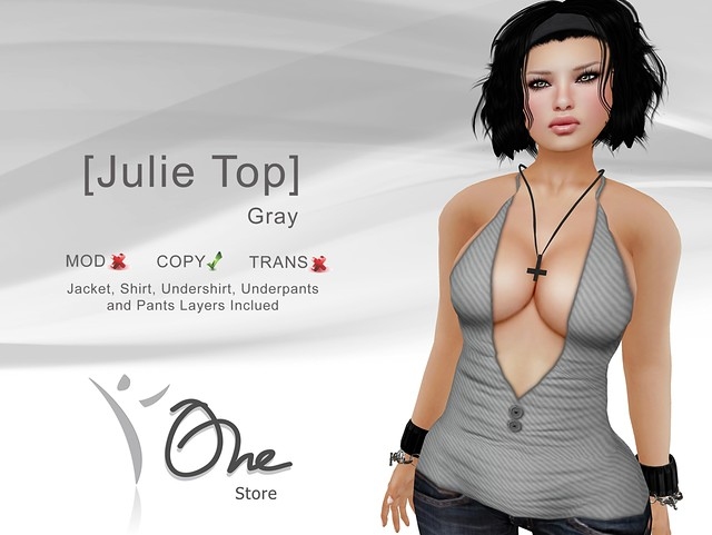 [Julie Top] Gray