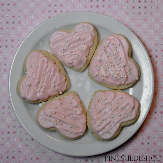 heart cookies square