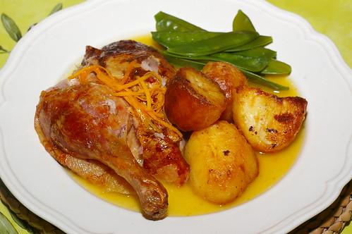Roast duck with orange sauce by La belle dame sans souci