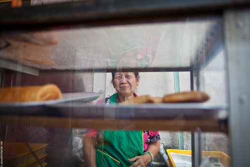 Chinese pastries lady