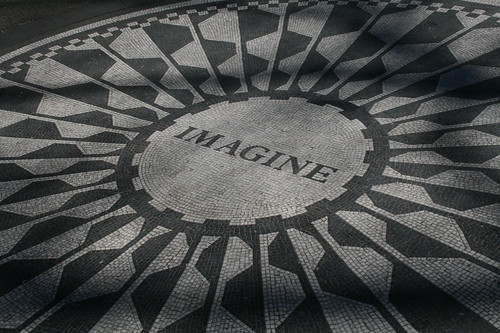 Imagine memorial in honor of John Lennon