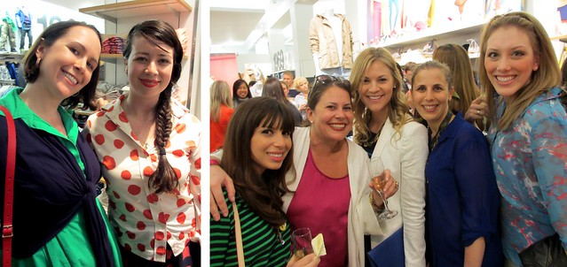 Left to right: With Eli of Thrifteye; Jackie of The Hourglass, Melissa of Savvy in San Francisco, Whitney of Britt + Whit, Jes of Ryzenberg On, and Sarah of Sarah's Ambitions.