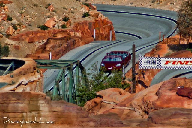 Cars Land Construction - Radiator Springs Racers Testing