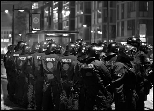 Polizeikolonne