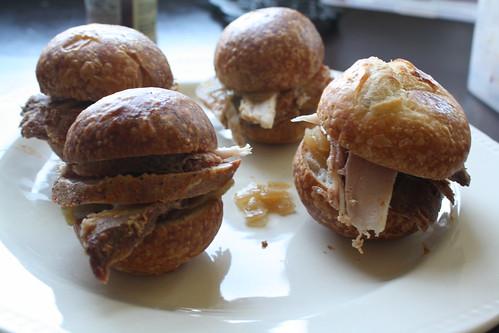 Porchetta & Pork Loin Sliders w/Caramelized Onions
