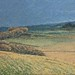 Janet E Davis, View from Housesteads No1, 1992, oil on board, 20x24 inches.