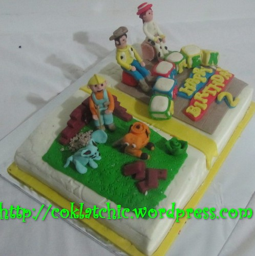 Cake bob the builder dan toy story (cake buku)