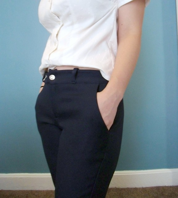 Navy Trousers