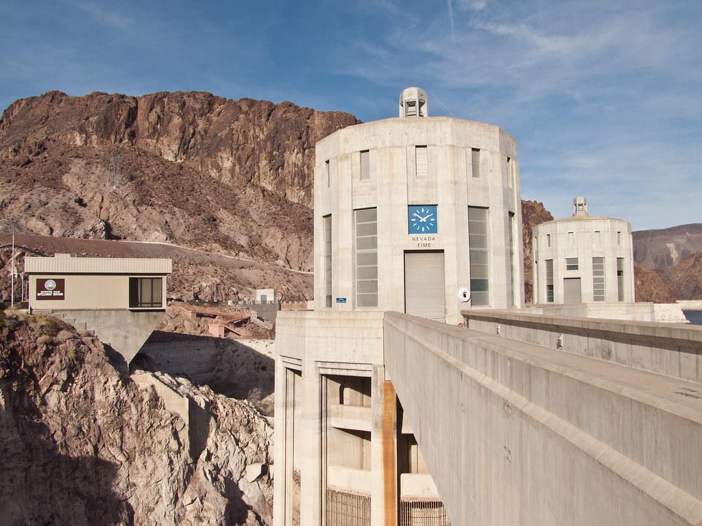 Penstock tower, Nevada side, Hoover Dam