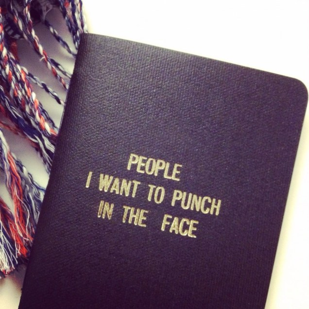 People I want to punch in the face book -