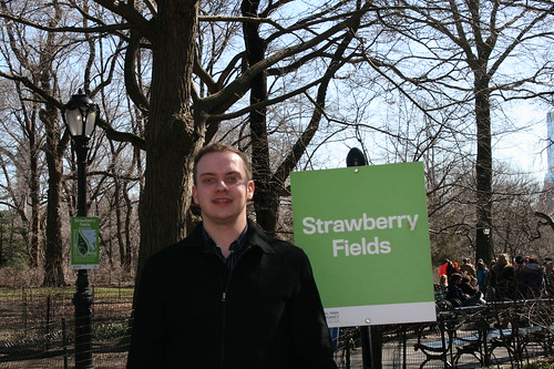 Sean near Strawberry Fields